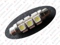 LED FESTOON C5W 42mm 12 5050 SMD - RURKA 4 STRONY