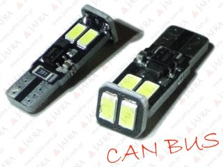 CAN BUS LED W5W T10 6 x 5630 SMD BI POLARNA